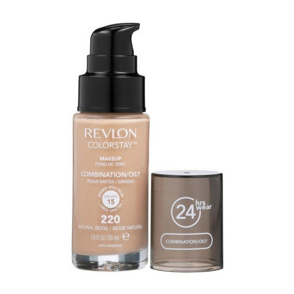 Revlon colorstay makeup combination oily spf15 220 natural beige 30ml