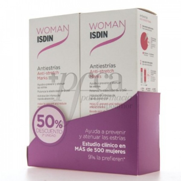 WOMAN ISDIN ANTIESTRIAS 2X 250ML PROMO