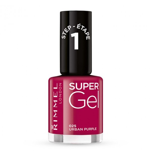 Rimmel supergel kate nail lacquer 025 urban purple